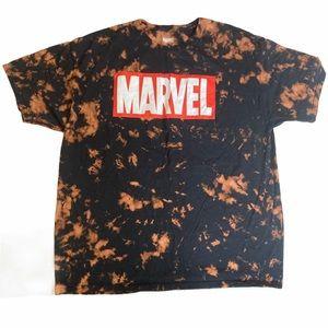 Marvel Short Sleeve Tie Dye Shirt 100% Cotton XL